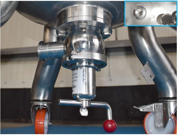 DN40 Flush bottom valve RVS 316 (V4A) AISI316 - type connectie naar keuze - FBV11204N40