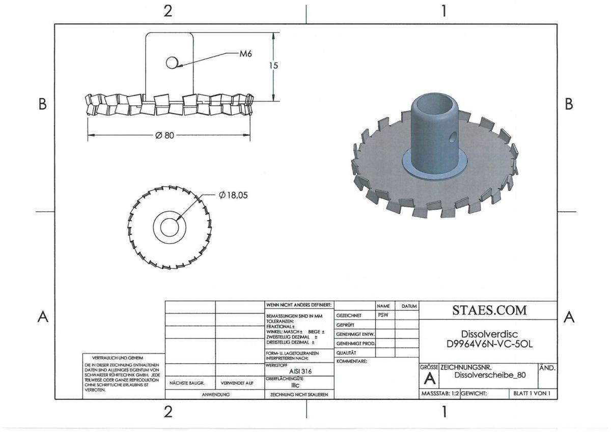 Extra Impeller - Dissolver - VC-50L - P9963V6N