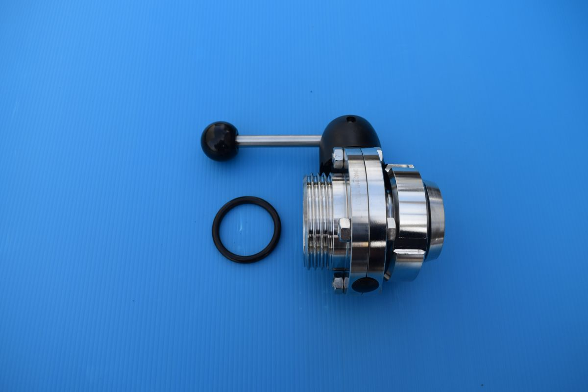 DN50 Set butterfly valve male/liner BC SS 316 (V4A) AISI316 DIN11851 EPDM - VKK10452MLBCEP50