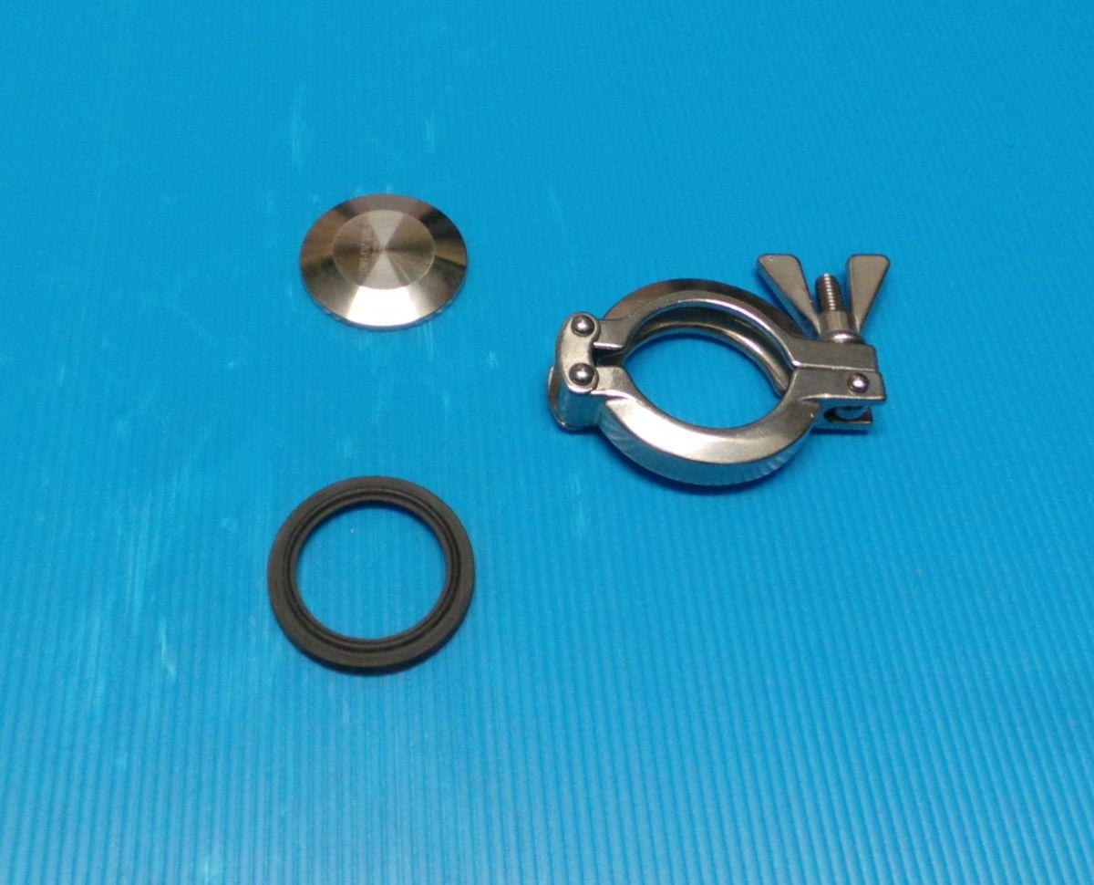 DN40 Set blinde ferrule RVS 316 (V4A) AISI316 DIN32676 Dichting koppeling EPDM - STP10479CEP25-32-40
