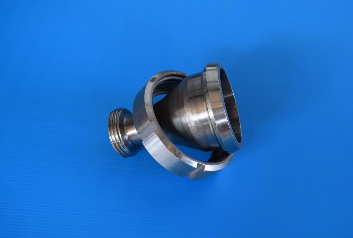 DN80 ~ DN32 Reductie concentrisch puntstuk-wartel/draadstuk RVS 316 (V4A) AISI316 DIN11851/11852 - R10956COLMDN80~32