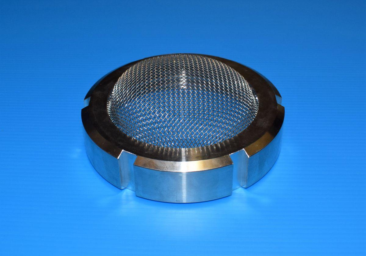 DN100 Wartelmoer met gaas RVS 304 (V2A) AISI304 DIN11851 - WMG11155L100