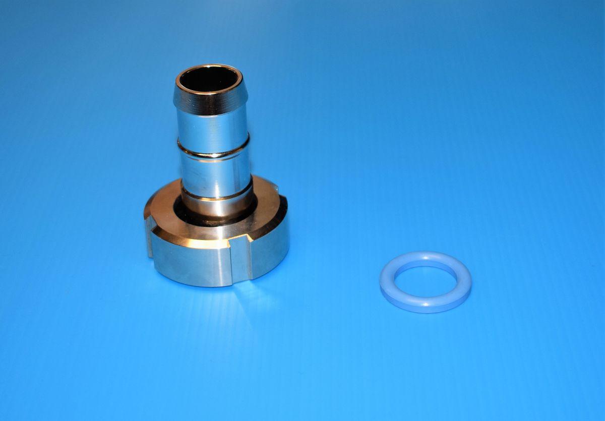 DN20 Set slangpilaar puntstuk-wartel ⌀18mm RVS 316 (V4A) AISI316 DIN11851 EPDM - SET SP11184LEP20