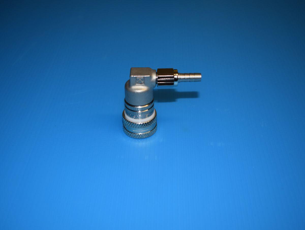 Quick-release coupling 90° hose connection 1/4